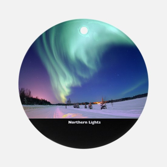 Northern_Lights_no-text Round Ornament