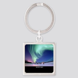 Northern_Lights_no-text Square Keychain