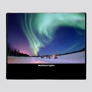 Northern_Lights_no-text Throw Blanket