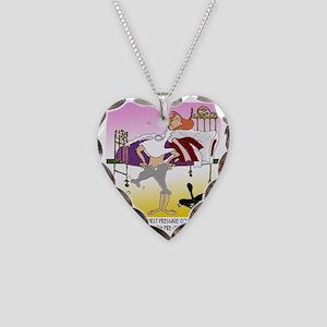 8194_horse_cartoon Necklace Heart Charm
