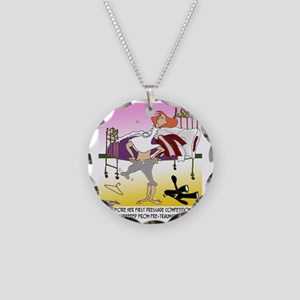 8194_horse_cartoon Necklace Circle Charm