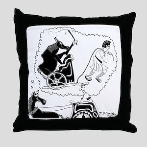 8343_roman_cartoon Throw Pillow