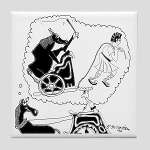 8343_roman_cartoon Tile Coaster