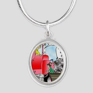 8520_diesel_cartoon Silver Oval Necklace