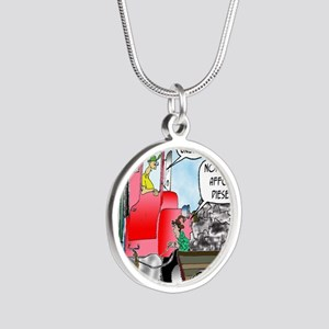 8520_diesel_cartoon Silver Round Necklace