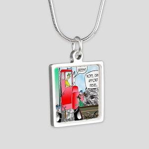 8520_diesel_cartoon Silver Square Necklace