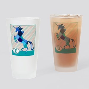 U is for Unicorn Drinking Glass