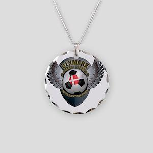 soccer_ball_crest_denmark Necklace Circle Charm