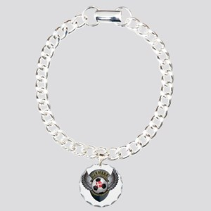 soccer_ball_crest_denmar Charm Bracelet, One Charm