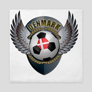 soccer_ball_crest_denmark Queen Duvet
