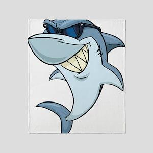 SharkBites_Shark-Full Color Throw Blanket