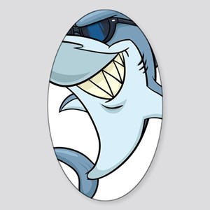 SharkBites_Shark-Full Color Sticker (Oval)