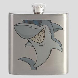 SharkBites_Shark-Full Color Flask