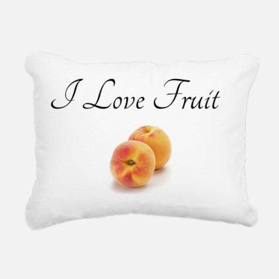 I Love Fruit with Peache Rectangular Canvas Pillow