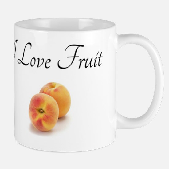 I Love Fruit with Peaches Mug