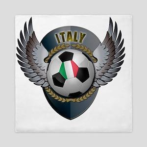 soccer_ball_crest_italy Queen Duvet