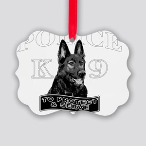 back police design Picture Ornament