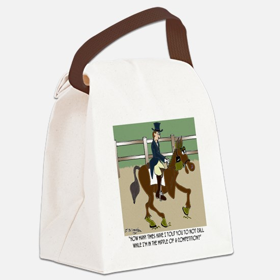 8191_horse_cartoon Canvas Lunch Bag