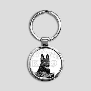 back state police design Round Keychain