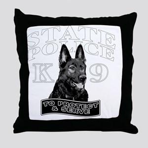back state police design Throw Pillow