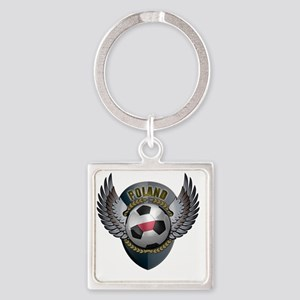 soccer_ball_crest_poland Square Keychain