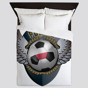 soccer_ball_crest_poland Queen Duvet