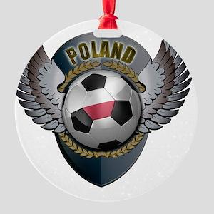 soccer_ball_crest_poland Round Ornament