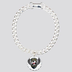 soccer_ball_crest_poland Charm Bracelet, One Charm