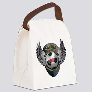 soccer_ball_crest_poland Canvas Lunch Bag