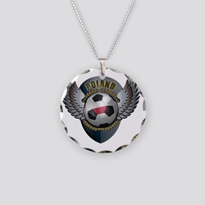 soccer_ball_crest_poland Necklace Circle Charm