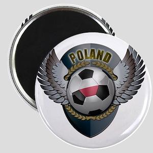 soccer_ball_crest_poland Magnet