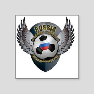 """soccer_ball_crest_russia Square Sticker 3"""" x 3"""""""
