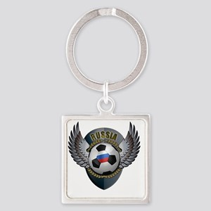 soccer_ball_crest_russia Square Keychain
