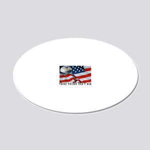THESE COLORS DON'T RUN 20x12 Oval Wall Decal