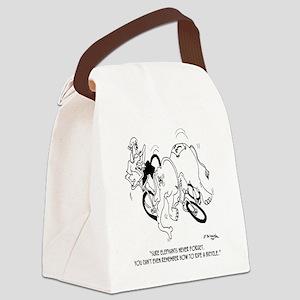 6724_bike_cartoon Canvas Lunch Bag
