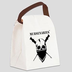 BlackFillWhiteStripe Canvas Lunch Bag
