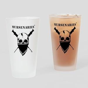 BlackFillWhiteStripe Drinking Glass