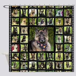blanket-wildeshots_lily(black) Shower Curtain