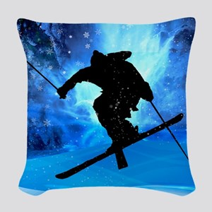 Winter Landscape and Freestyle Woven Throw Pillow