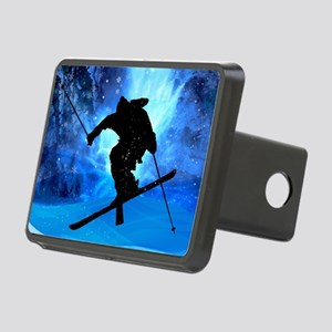 Winter Landscape and Frees Rectangular Hitch Cover