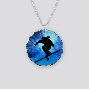 Winter Landscape and Freesty Necklace Circle Charm