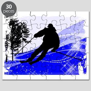 Downhill on the Ski Slope Edges Puzzle