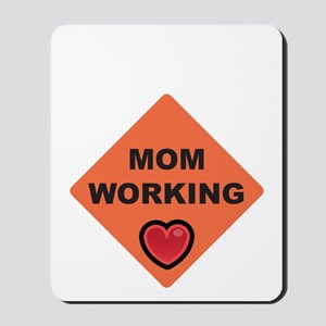 momworkingBIGblack Mousepad