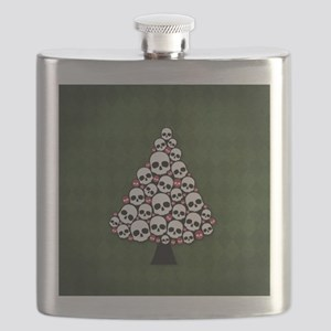 Holiday Skull Tree Flask