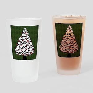 Holiday Skull Tree Drinking Glass