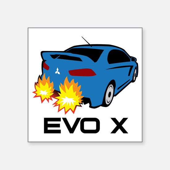 "Evo X Square Sticker 3"" x 3"""