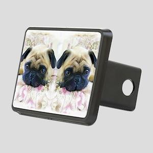 flip flops pug Rectangular Hitch Cover