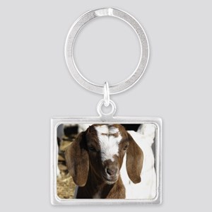 Cute kid goat Landscape Keychain