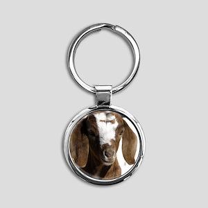 Cute kid goat Round Keychain