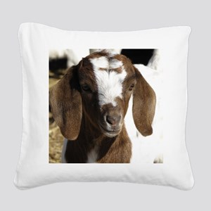 Cute kid goat Square Canvas Pillow